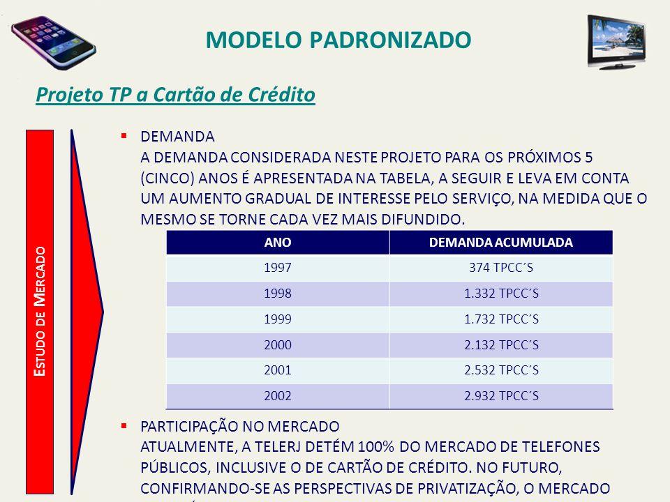 MODELO PADRONIZADO Projeto TP a Cartão de Crédito DEMANDA