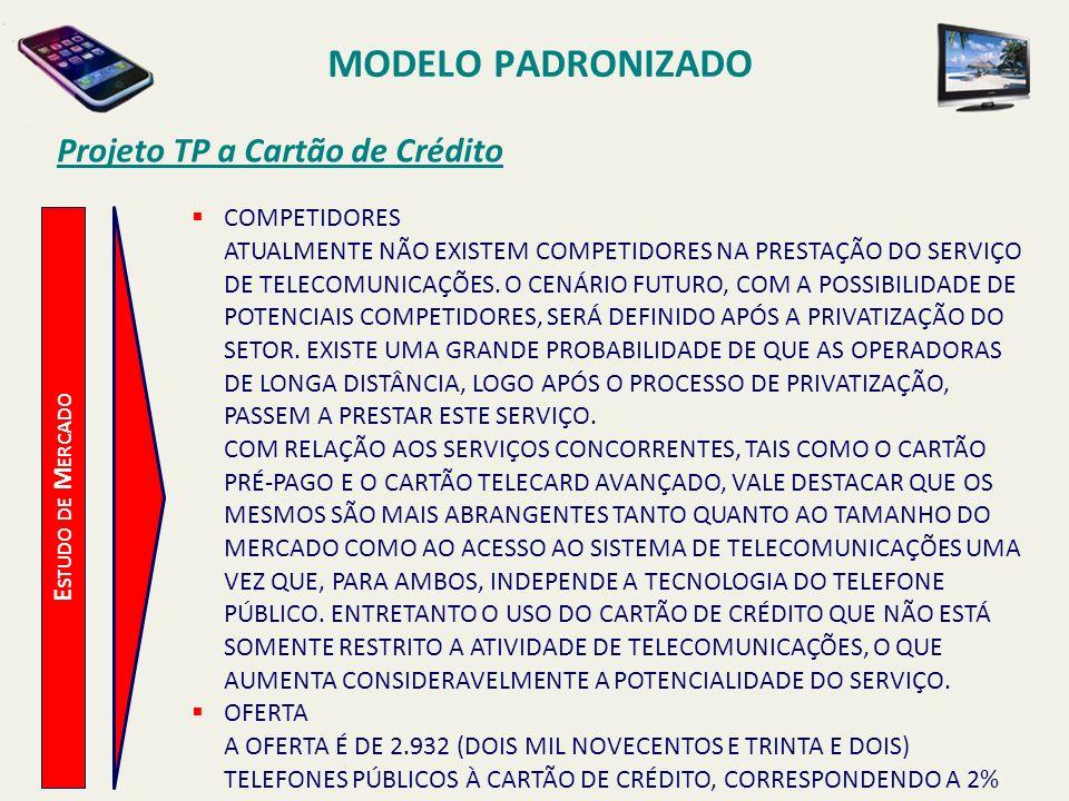 MODELO PADRONIZADO Projeto TP a Cartão de Crédito COMPETIDORES