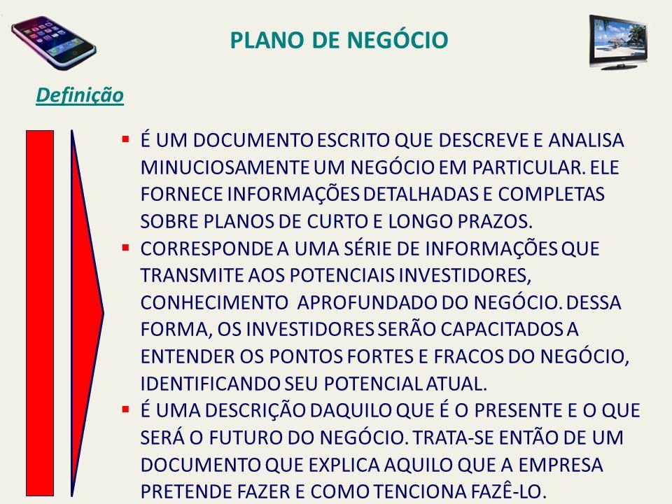 PLANO DE NEGÓCIO Definição