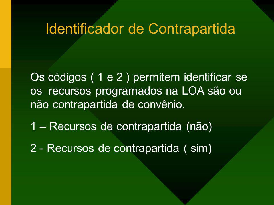 Identificador de Contrapartida