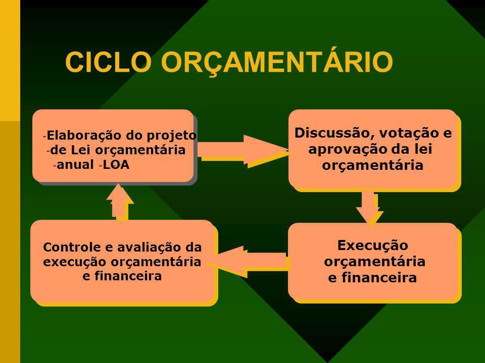 Controle e avaliação da execução orçamentária e financeira