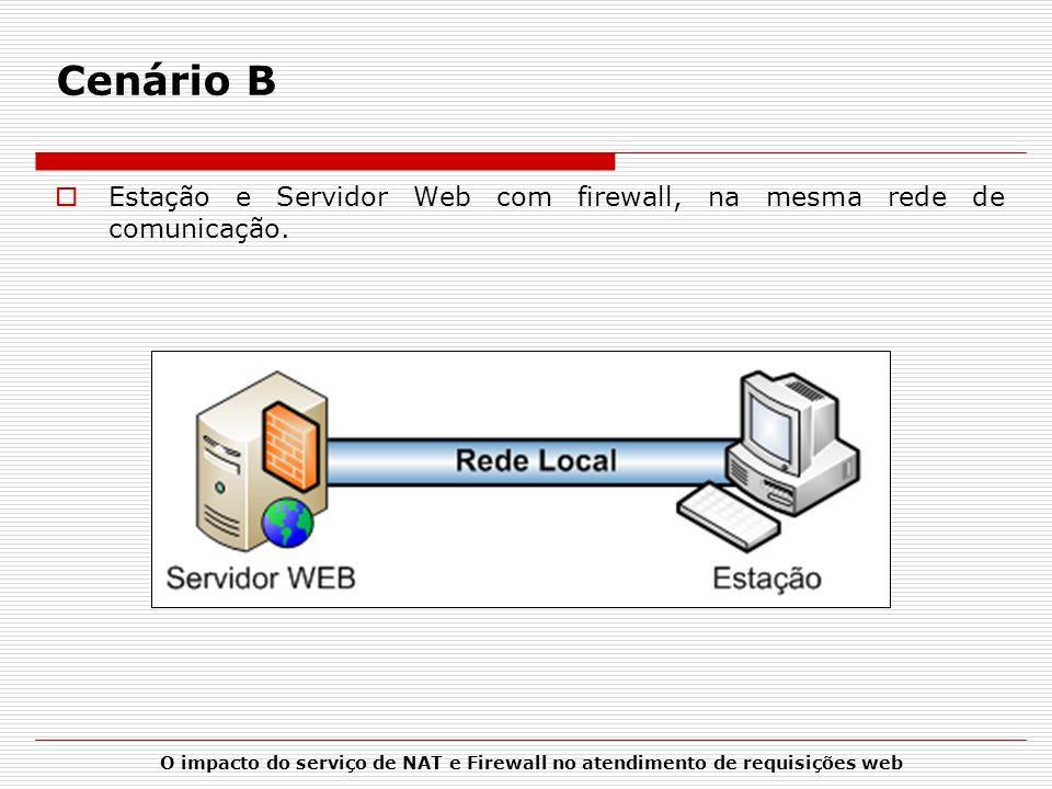 Cenário B Estação e Servidor Web com firewall, na mesma rede de comunicação.
