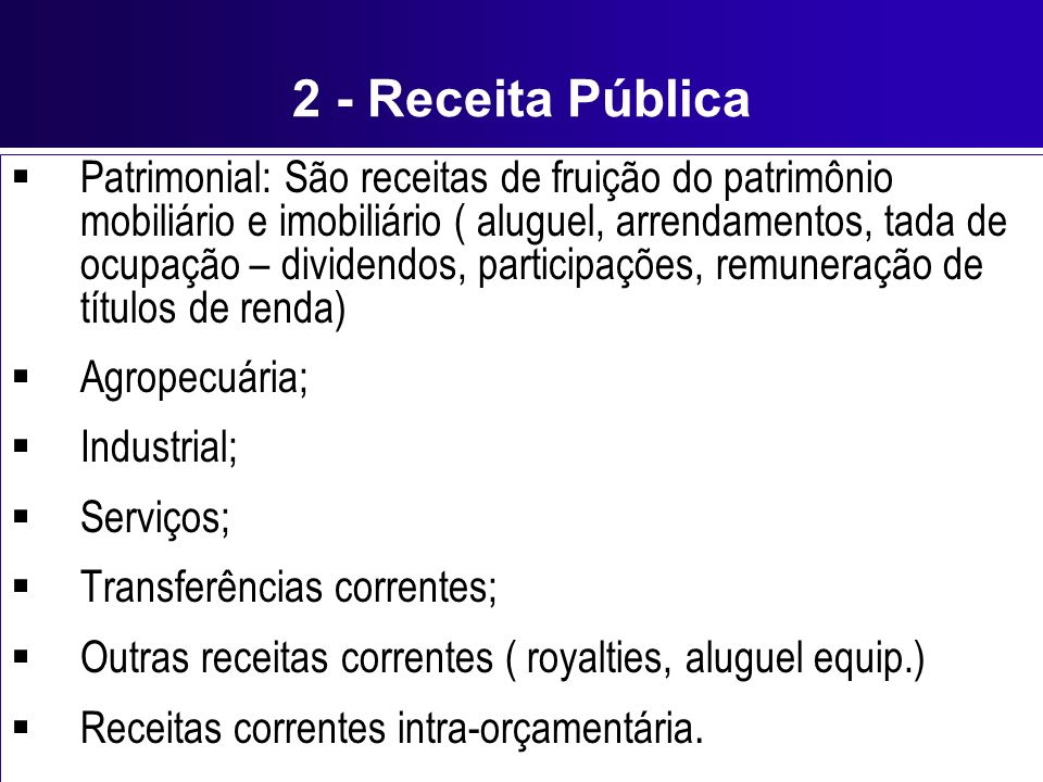 2 - Receita Pública
