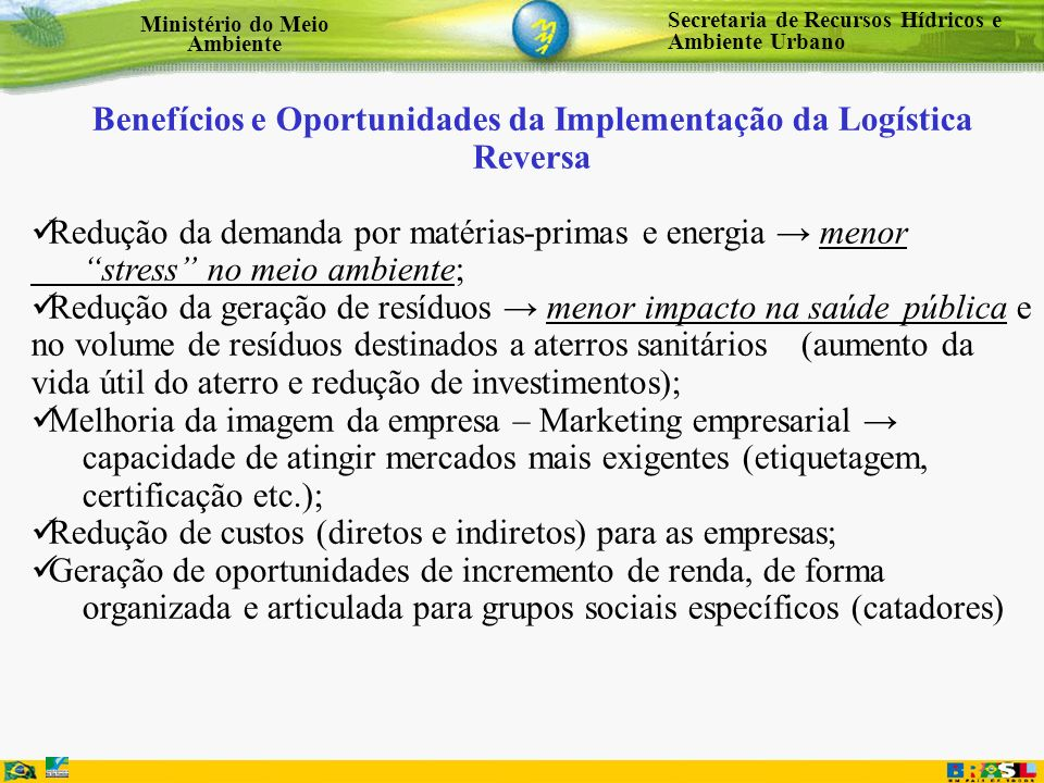 Benefícios e Oportunidades da Implementação da Logística Reversa
