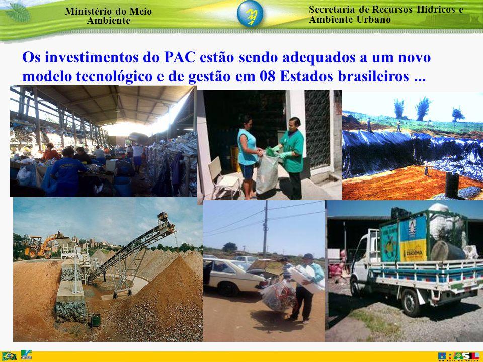 Os investimentos do PAC estão sendo adequados a um novo modelo tecnológico e de gestão em 08 Estados brasileiros ...