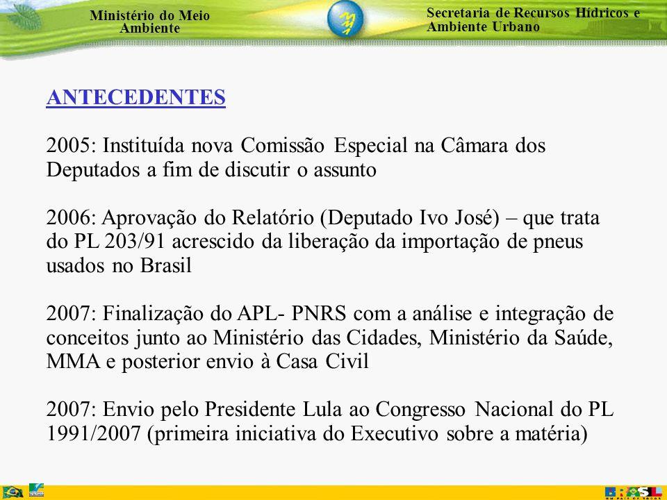 ANTECEDENTES 2005: Instituída nova Comissão Especial na Câmara dos Deputados a fim de discutir o assunto.