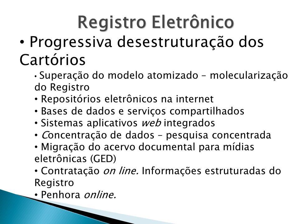 Registro Eletrônico Progressiva desestruturação dos Cartórios