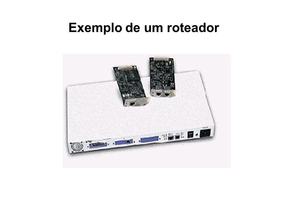 Exemplo de um roteador