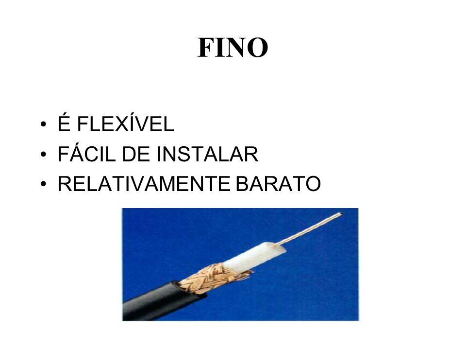 FINO É FLEXÍVEL FÁCIL DE INSTALAR RELATIVAMENTE BARATO