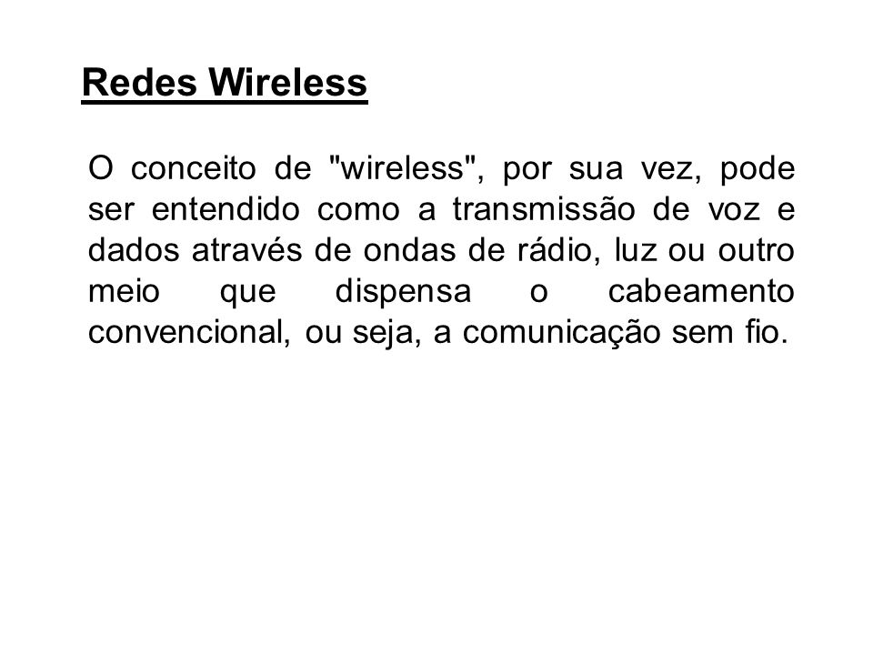 Redes Wireless