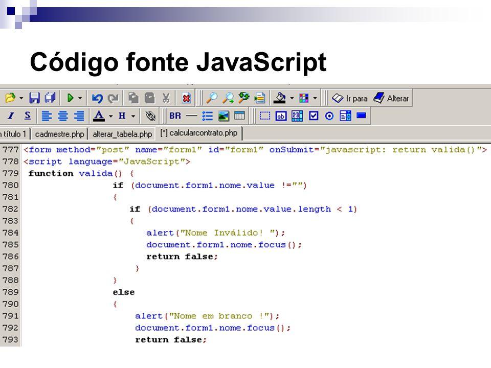 Código fonte JavaScript