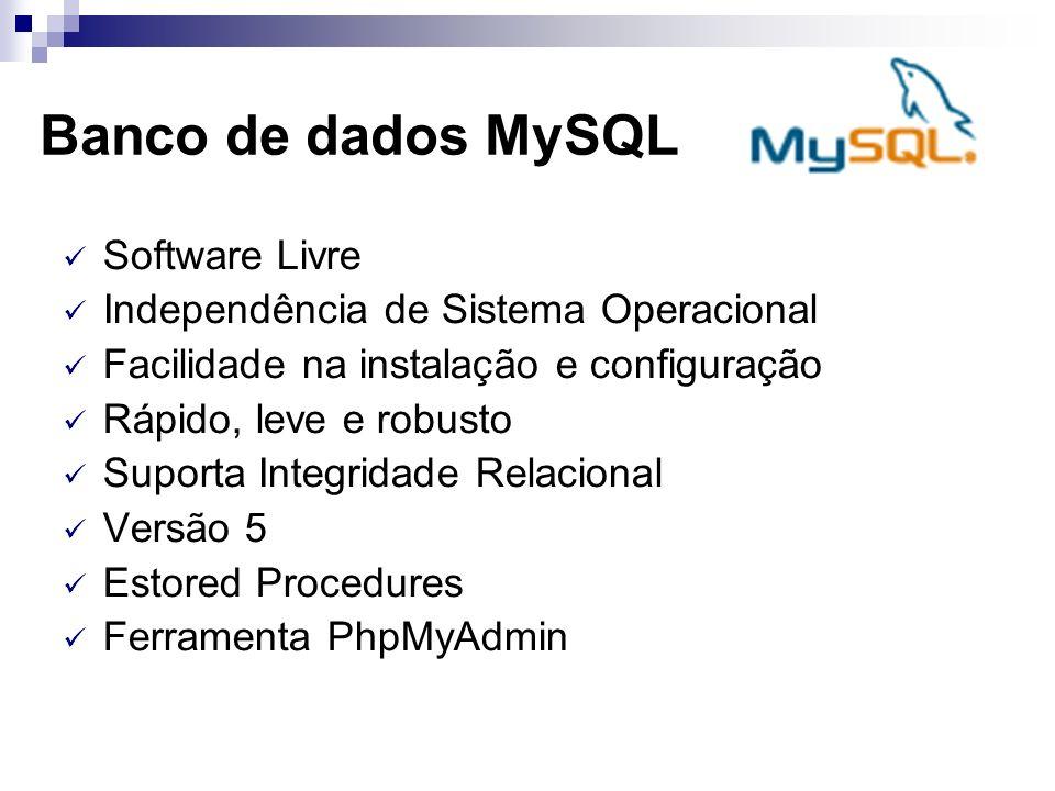 Banco de dados MySQL Software Livre