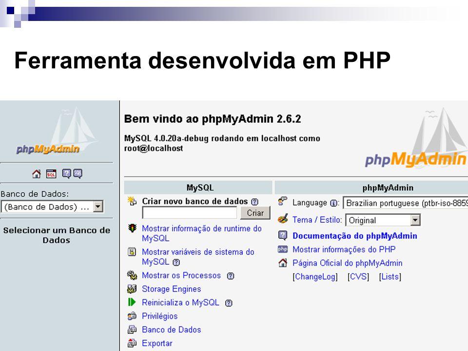 Ferramenta desenvolvida em PHP
