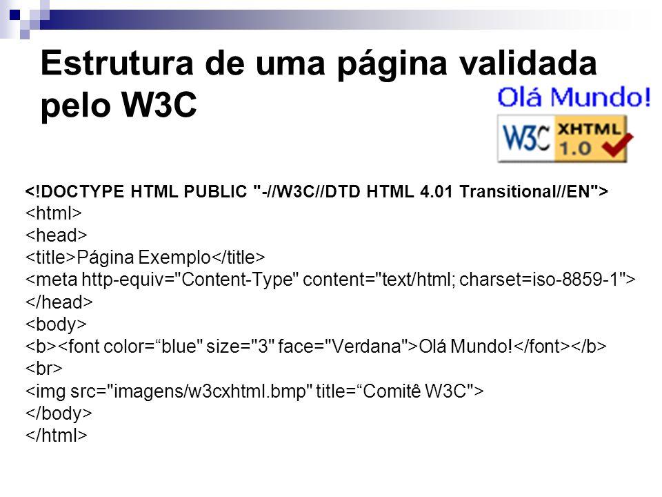 Estrutura de uma página validada pelo W3C
