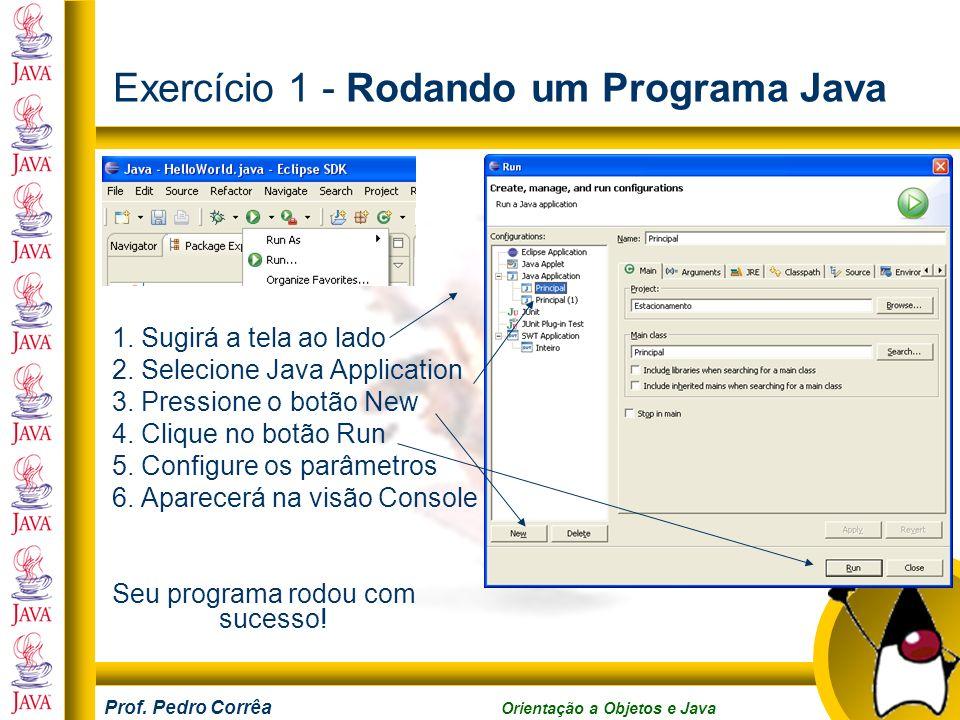 Exercício 1 - Rodando um Programa Java