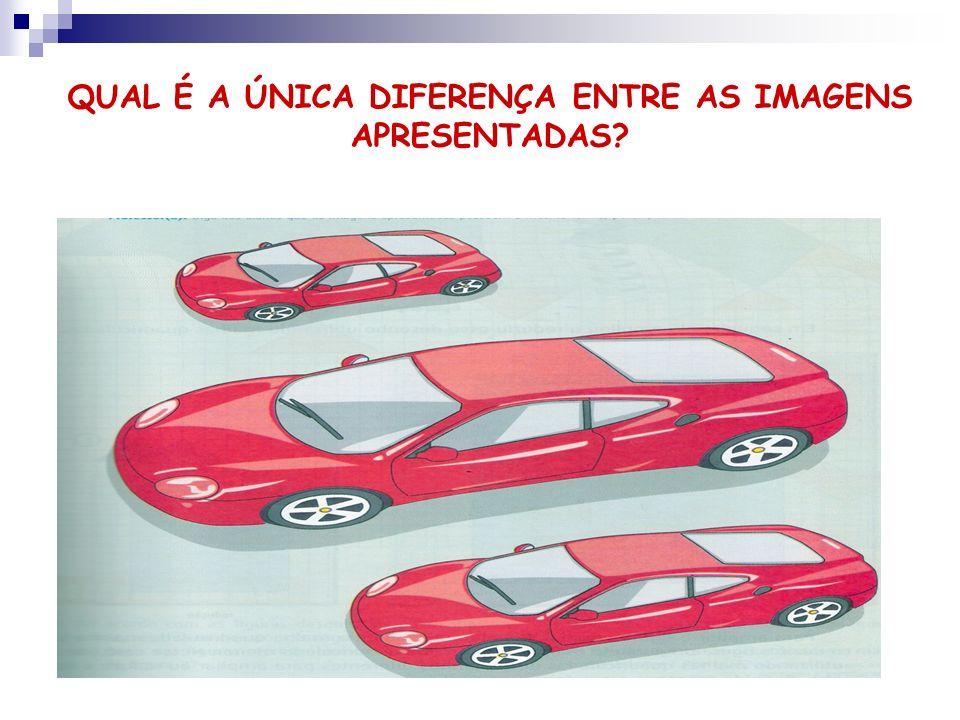 QUAL É A ÚNICA DIFERENÇA ENTRE AS IMAGENS APRESENTADAS