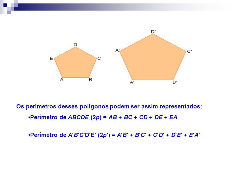 Os perímetros desses polígonos podem ser assim representados: