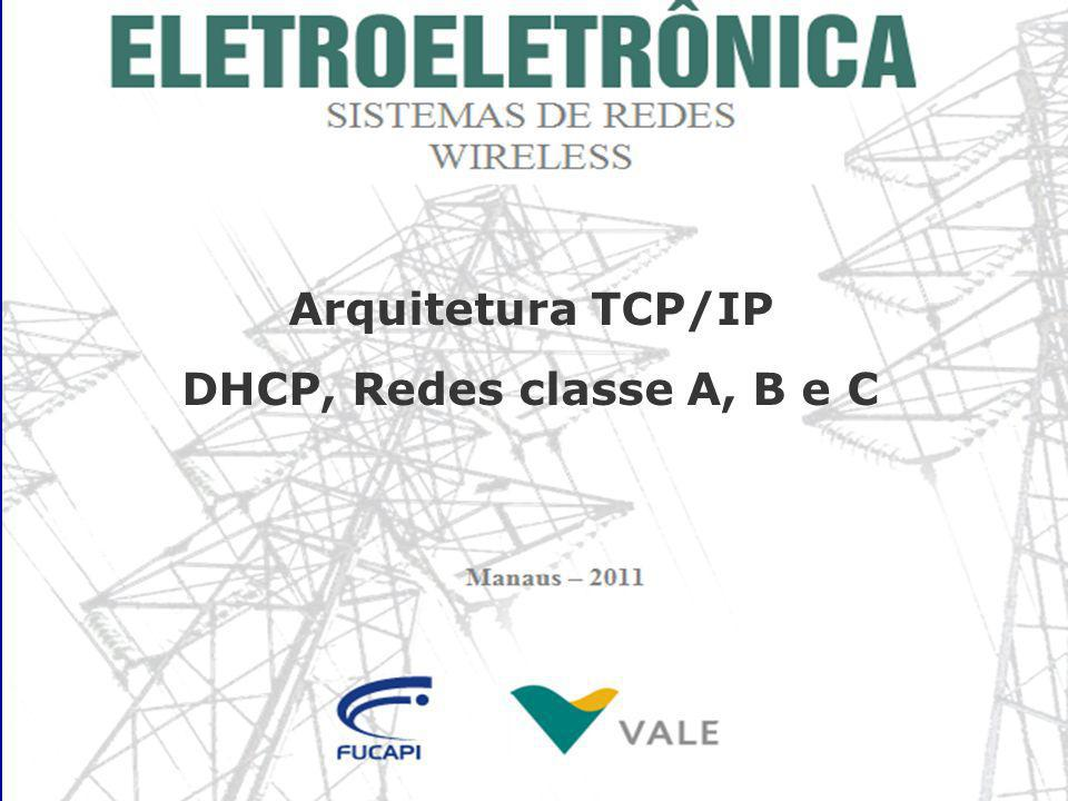 Arquitetura TCP/IP DHCP, Redes classe A, B e C