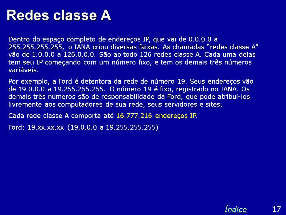 Redes classe A