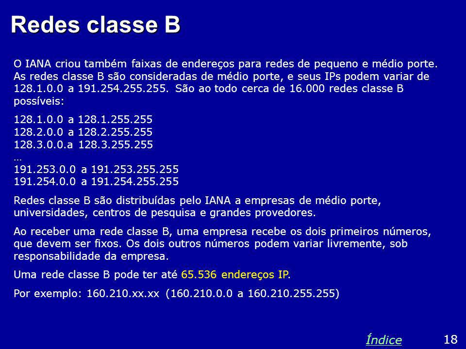 Redes classe B