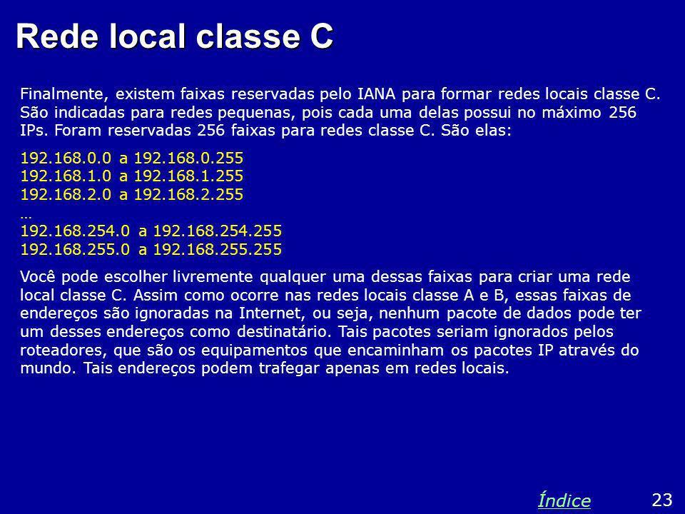 Rede local classe C Índice 23