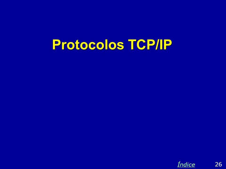 Protocolos TCP/IP Índice 26