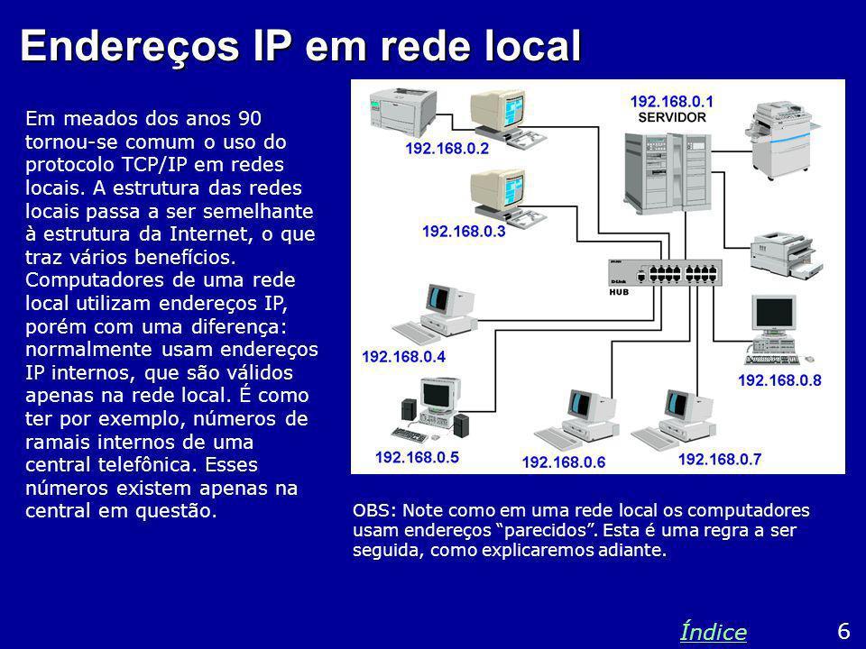 Endereços IP em rede local
