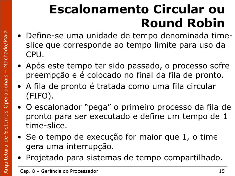 Escalonamento Circular ou Round Robin