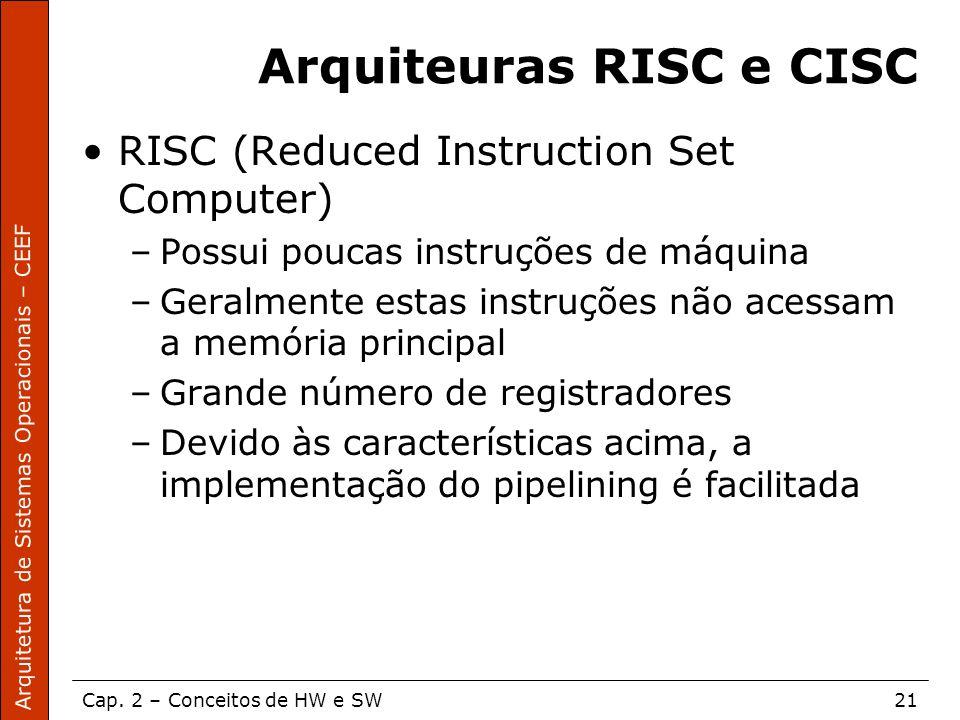 Arquiteuras RISC e CISC