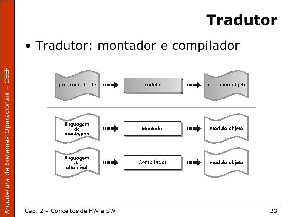 Tradutor Tradutor: montador e compilador