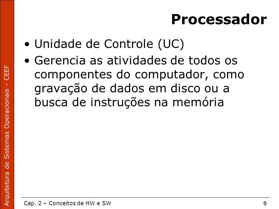 Processador Unidade de Controle (UC)