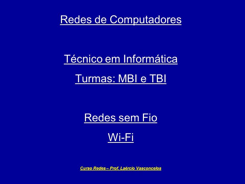 Curso Redes – Prof. Laércio Vasconcelos