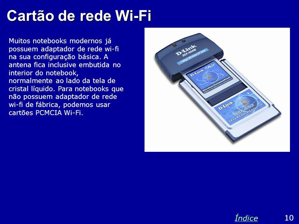 Cartão de rede Wi-Fi Índice 10