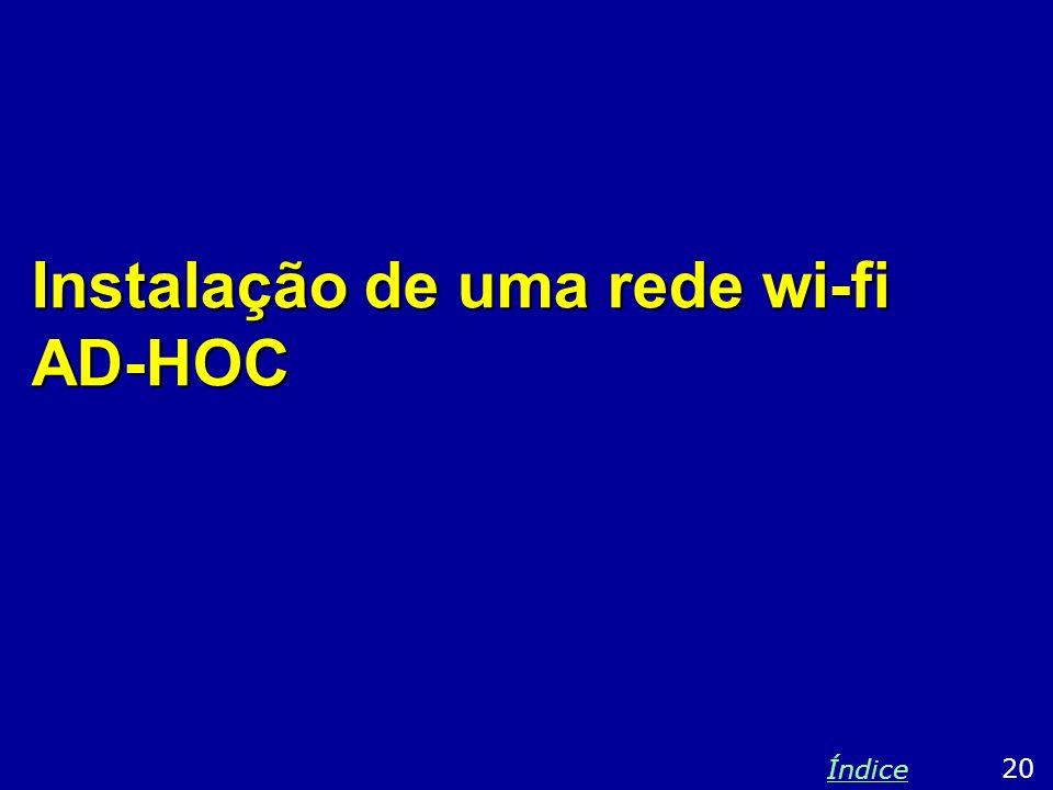 Instalação de uma rede wi-fi AD-HOC