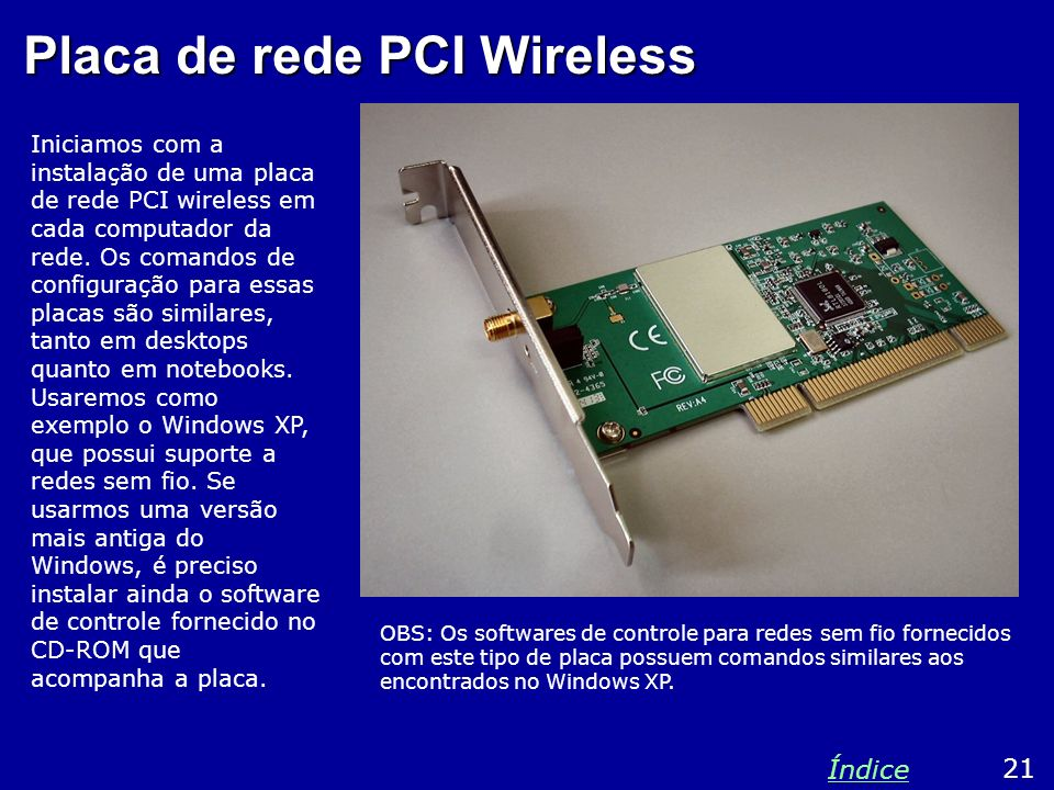 Placa de rede PCI Wireless
