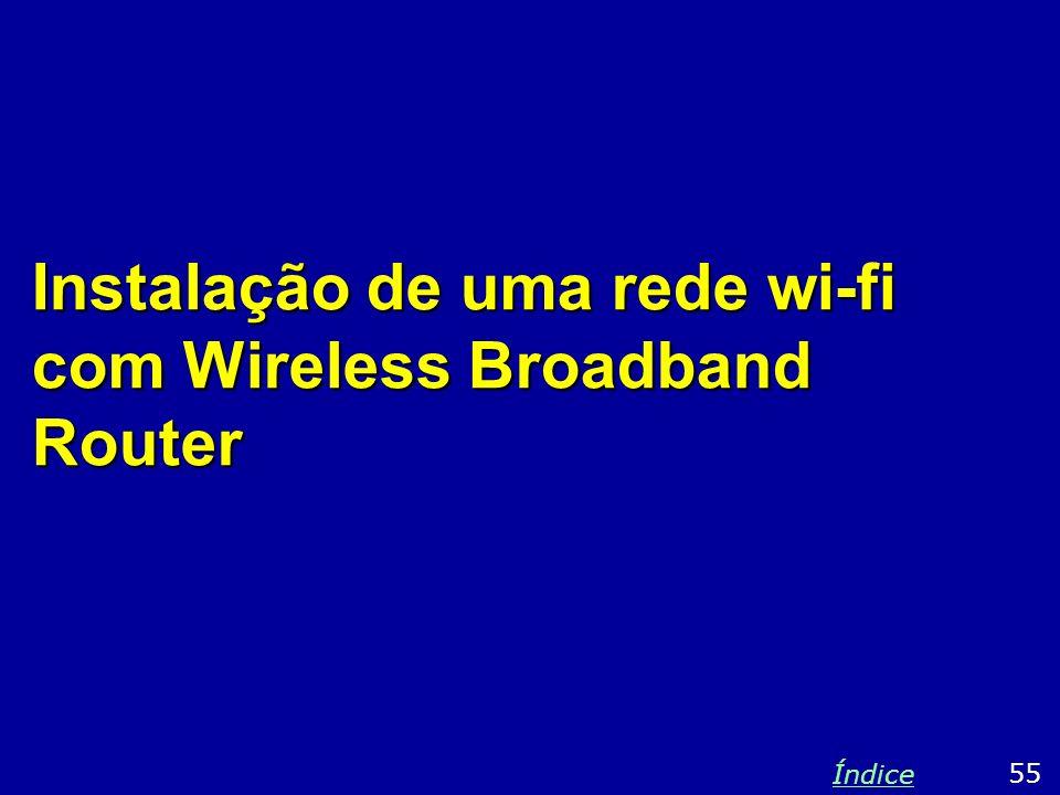 Instalação de uma rede wi-fi com Wireless Broadband Router