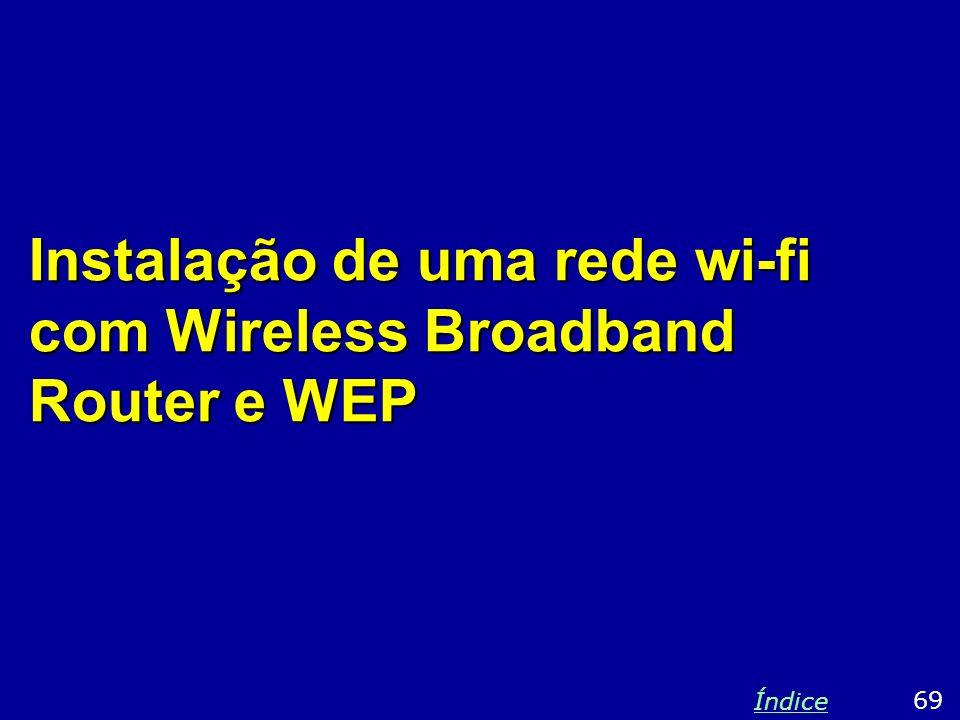 Instalação de uma rede wi-fi com Wireless Broadband Router e WEP