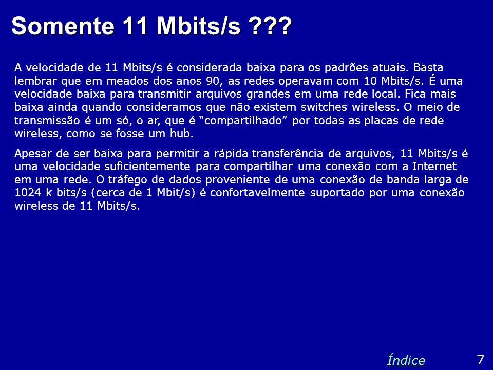 Somente 11 Mbits/s Índice 7