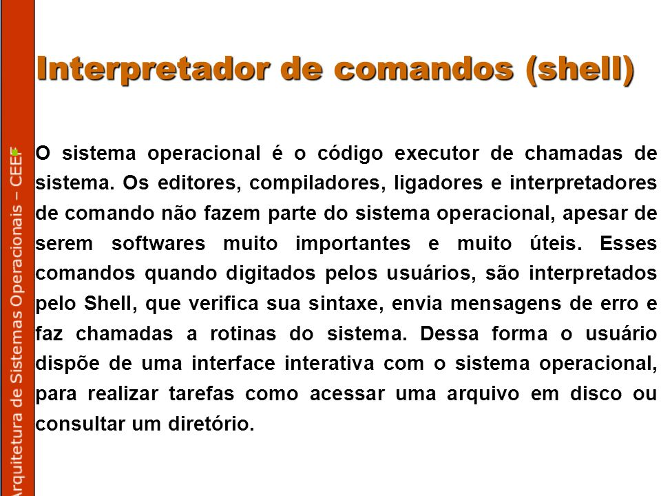 Interpretador de comandos (shell)