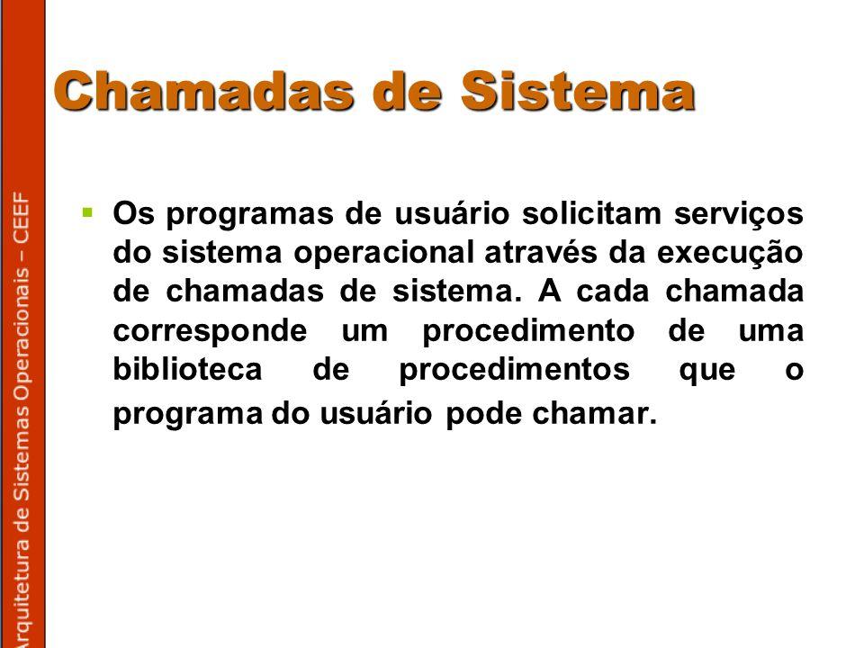 Chamadas de Sistema