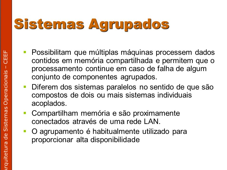 Sistemas Agrupados
