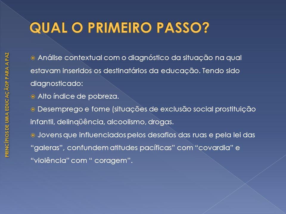 QUAL O PRIMEIRO PASSO