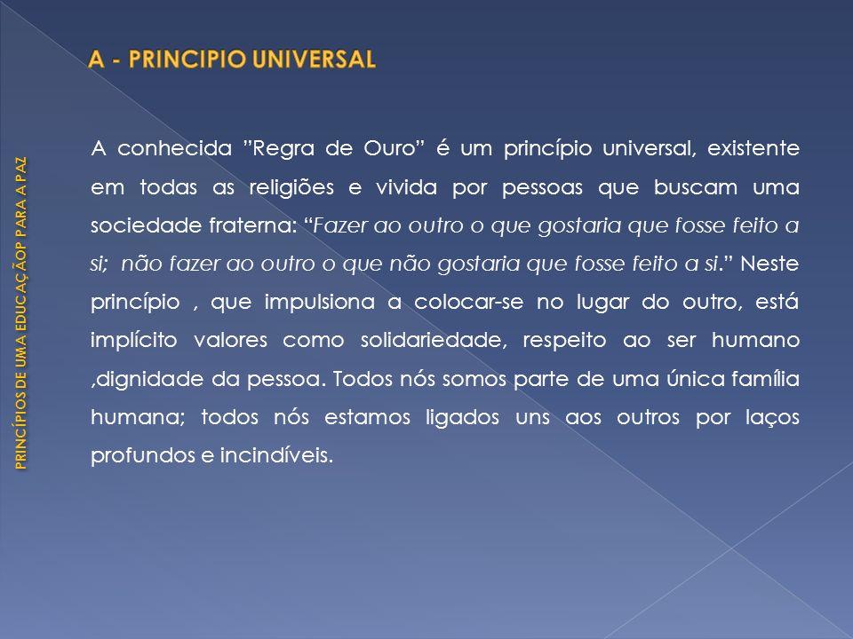 A - PRINCIPIO UNIVERSAL