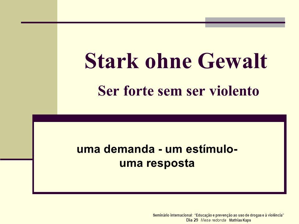Stark ohne Gewalt Ser forte sem ser violento