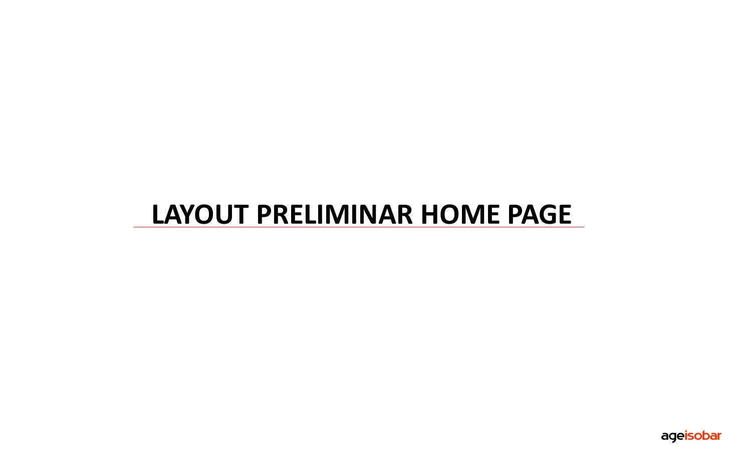LAYOUT PRELIMINAR HOME PAGE