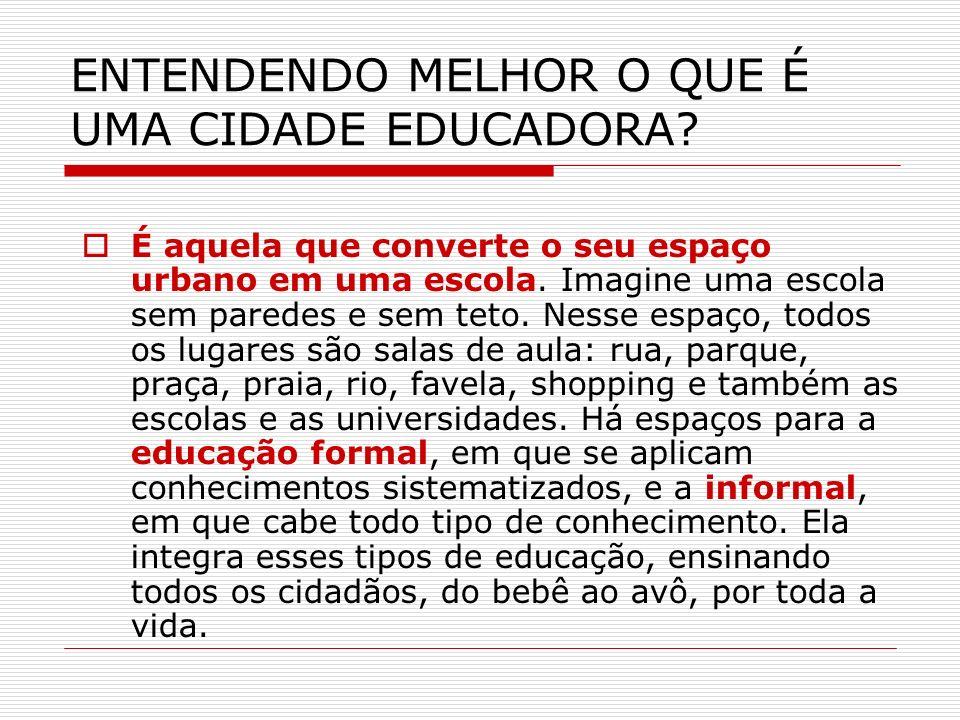 ENTENDENDO MELHOR O QUE É UMA CIDADE EDUCADORA