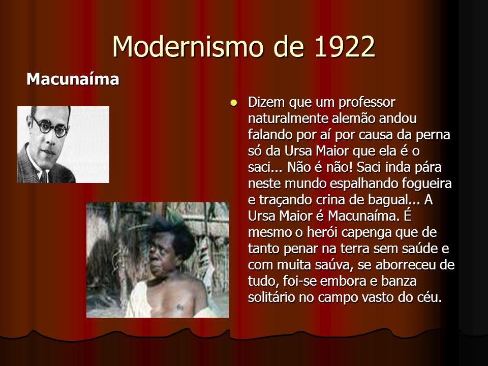 Modernismo de 1922 Macunaíma
