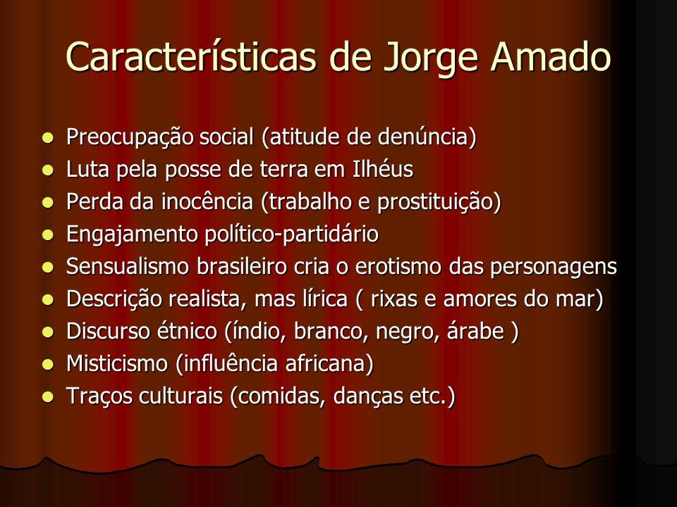 Características de Jorge Amado