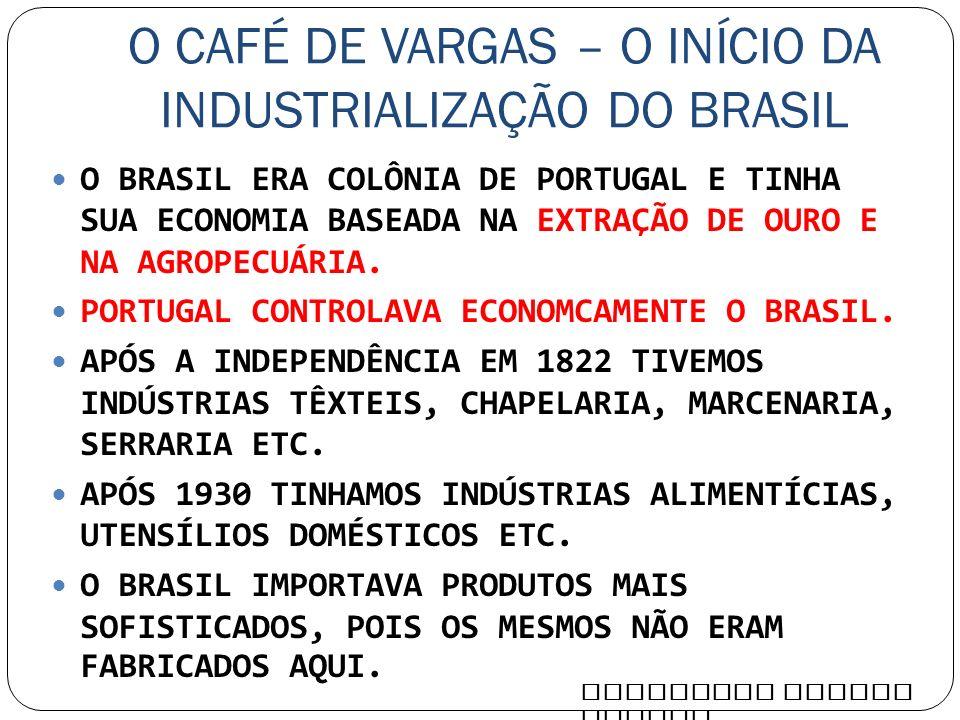 O CAFÉ DE VARGAS – O INÍCIO DA INDUSTRIALIZAÇÃO DO BRASIL