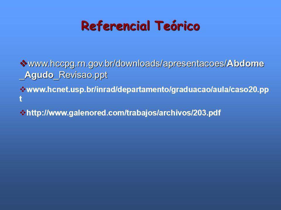 Referencial Teórico www.hccpg.rn.gov.br/downloads/apresentacoes/Abdome_Agudo_Revisao.ppt.
